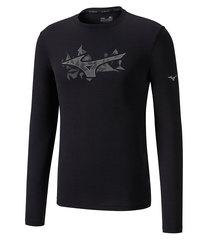 Mizuno Impulse Core Graphic Ls Tee футболка с длинным рукавом мужская черная