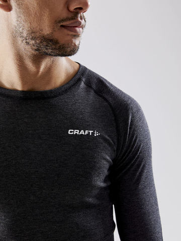 Craft Core Wool Merino комплект термобелья мужской black melange