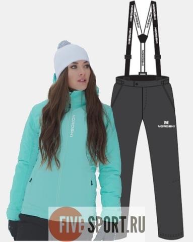 Nordski Montana Premium зимний лыжный костюм женский sky-grey