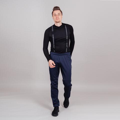 Nordski Premium разминочные лыжные брюки мужские blueberry