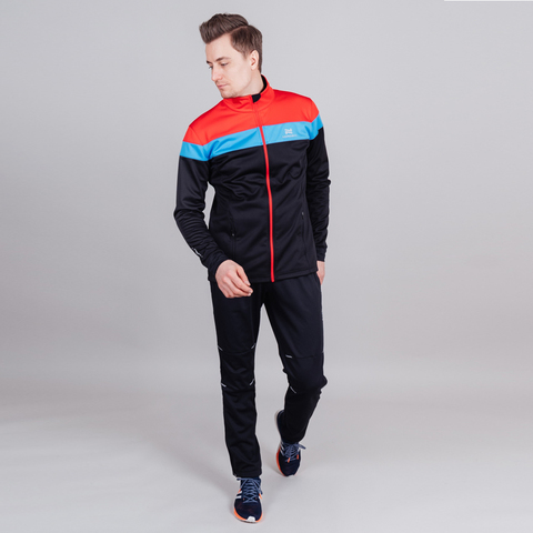 Nordski Drive лыжная куртка мужская black-red