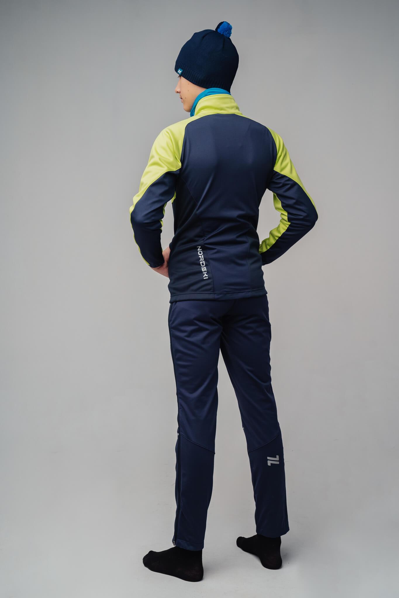 Nordski Jr Premium лыжный костюм детский green-blueberry - 2