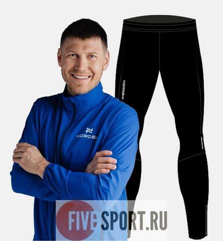 Nordski Motion Premium беговой костюм мужской Vasilek-Black