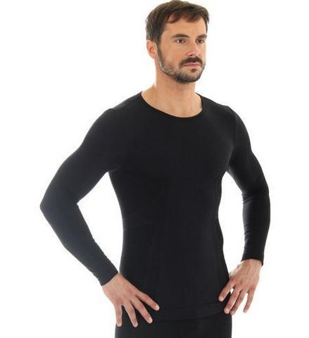 Термобелье мужское Brubeck Comfort Wool рубашка черная