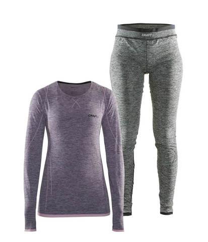 Craft Active Comfort комплект термобелья женский violet-black