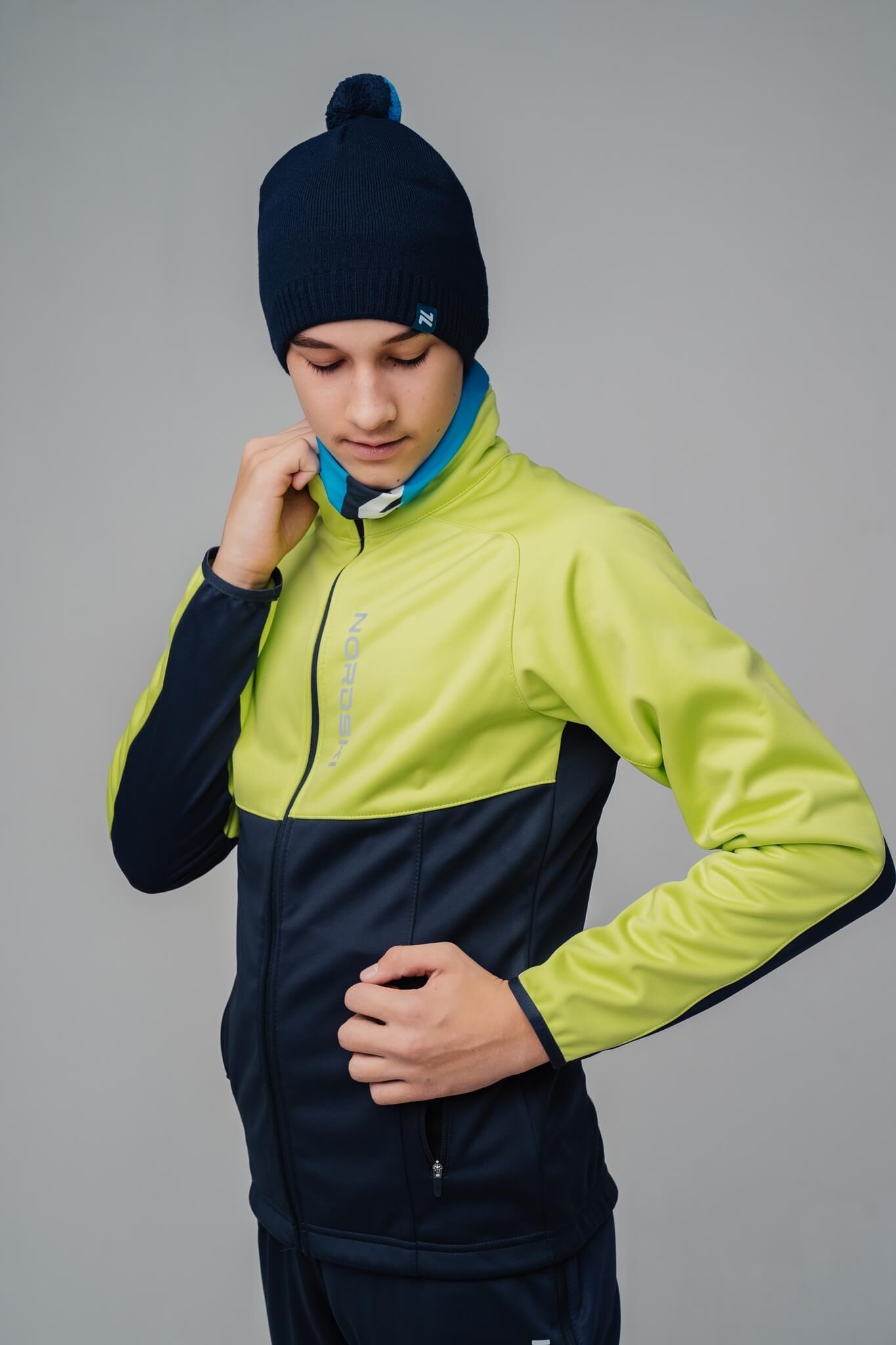 Nordski Jr Premium лыжный костюм детский green-blueberry - 3
