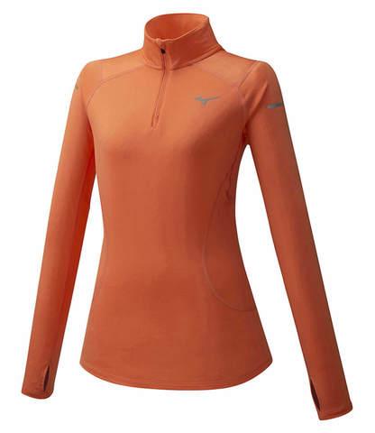 Mizuno Warmalite Hz рубашка женская оранжевая
