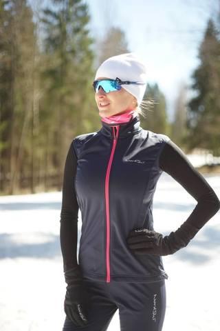 Nordski Jr Motion детский лыжный жилет blueberry-pink