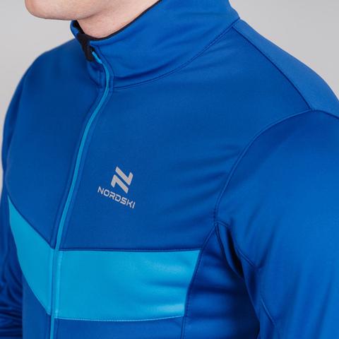 Детская тренировочная куртка Nordski Jr Base true blue-blue
