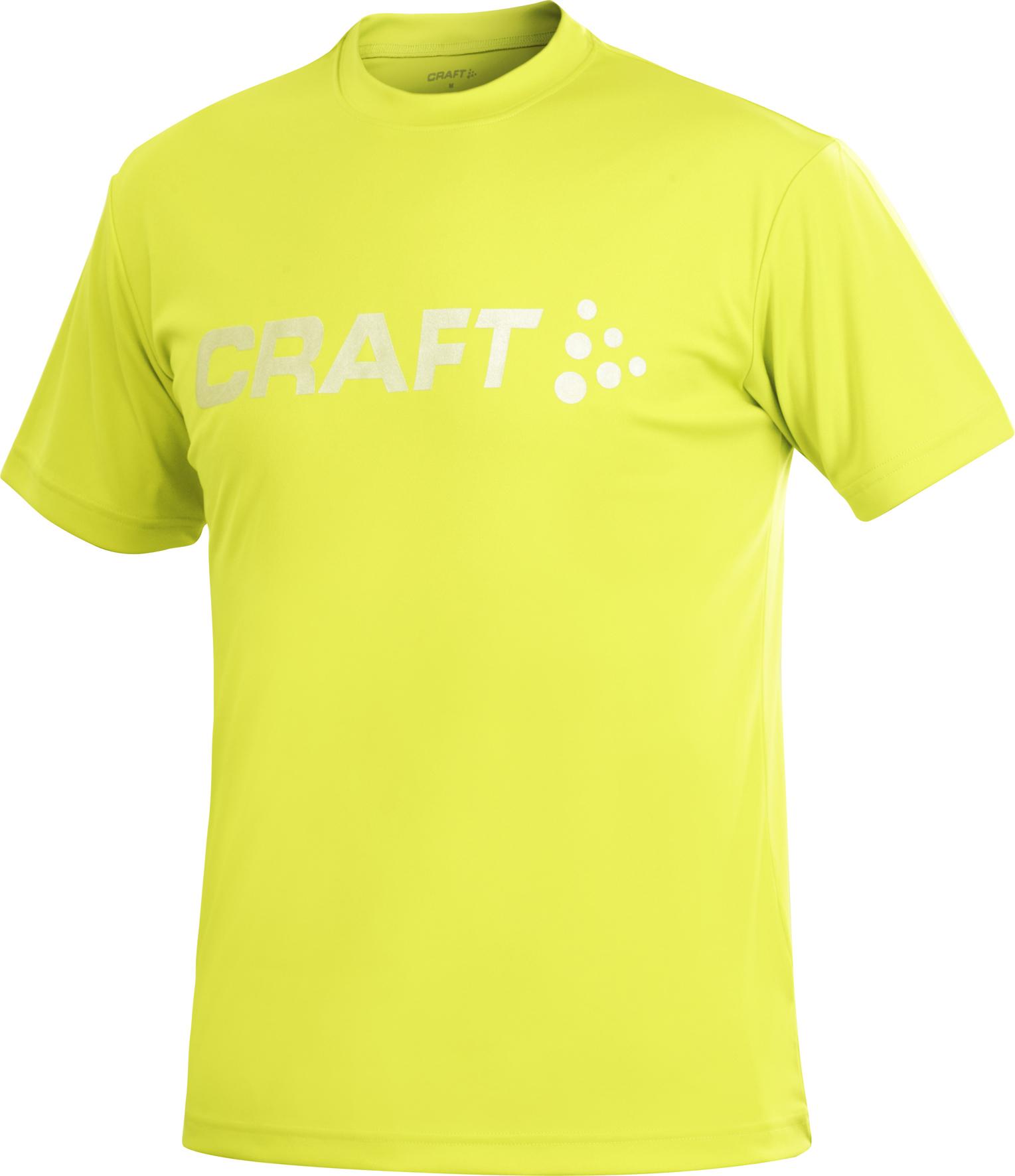 Футболка Craft Active Run Logo Tee мужская желтая