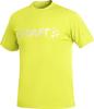 Футболка Craft Active Run Logo Tee мужская желтая - 1