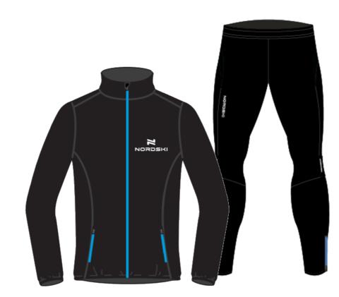 Nordski Motion Premium костюм для бега мужской Black