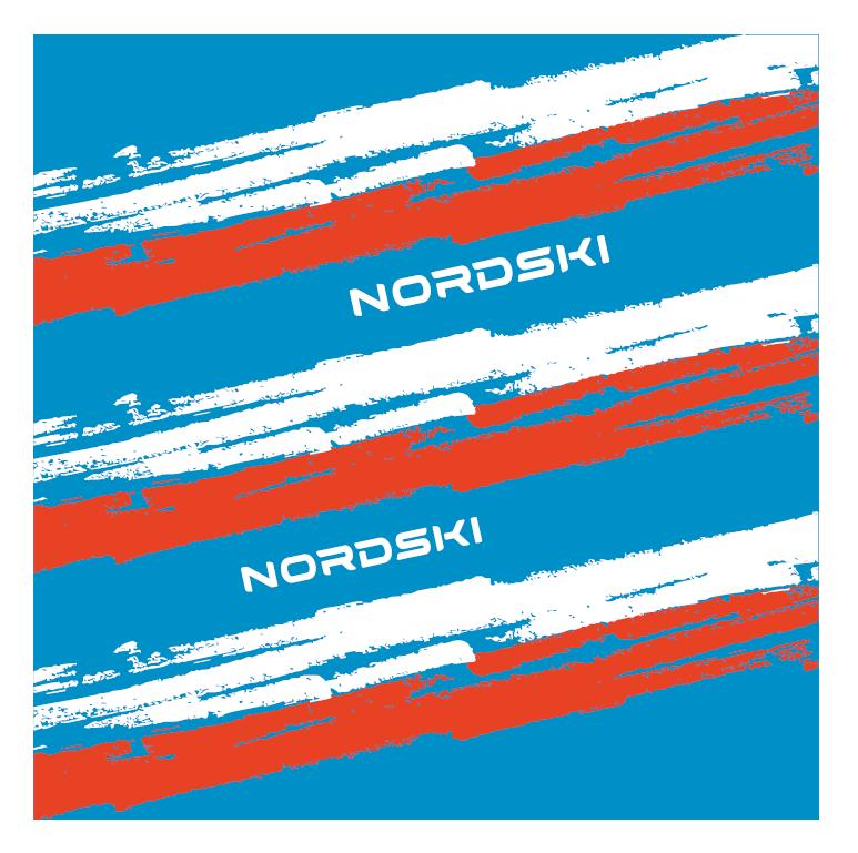 Nordski Stripe многофункциональный баф blue-red - 2