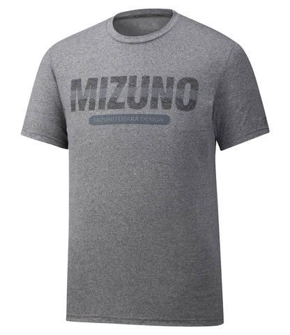 Mizuno Heritage Tee футболка для бега мужская серая