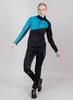 Лыжный костюм женский Nordski Premium black-blue - 1