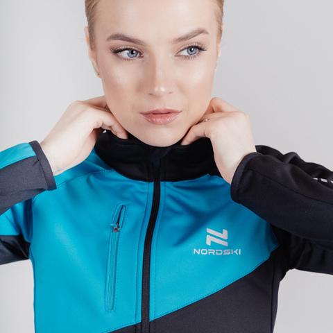 Лыжный костюм женский Nordski Premium black-blue
