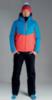 Nordski Montana Rus теплый лыжный костюм мужской синий-красный - 1