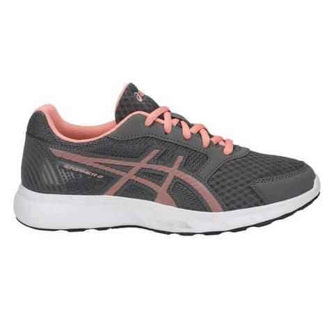 Asics Stormer 2 Gs кроссовки для бега детские серые-розовые