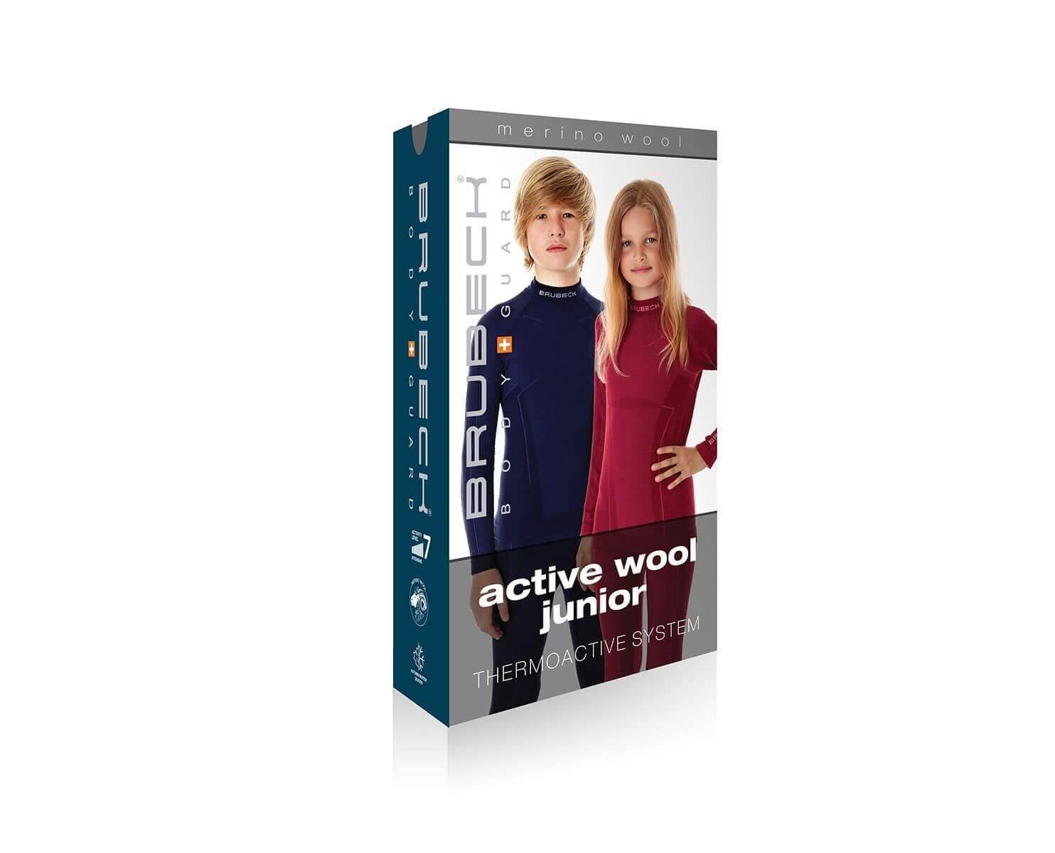 Brubeck Active Wool детское термобелье кальсоны бордо - 3
