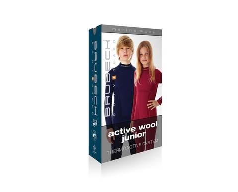Brubeck Active Wool детское термобелье кальсоны бордо