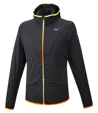 Mizuno Hybrid Bt Hoodie куртка для бега мужская черная