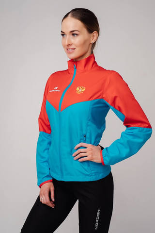 Nordski Sport куртка для бега женская red-blue