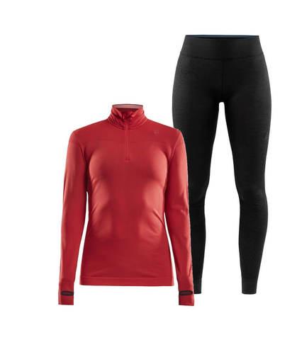 Craft Active Fuseknit Comfort комплект термобелья женский черный-красный
