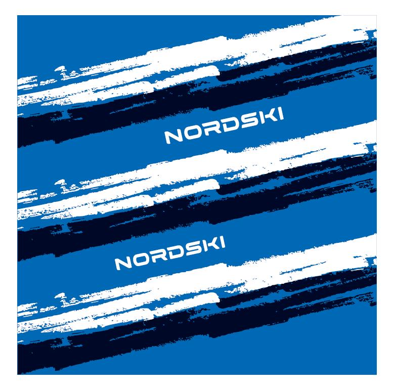 Nordski Stripe многофункциональный баф deep blue - 4