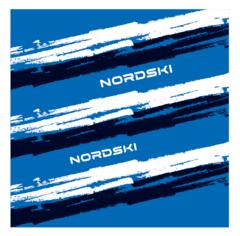 Nordski Stripe многофункциональный баф deep blue