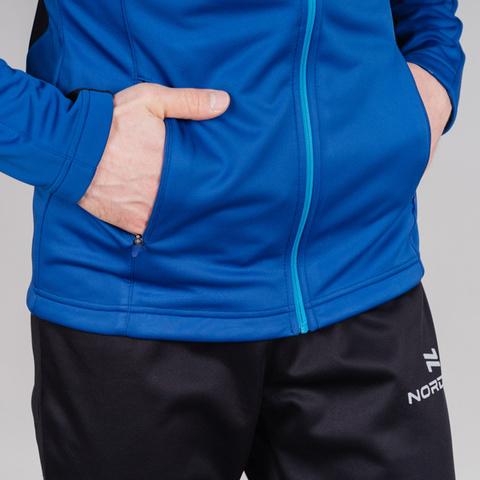 Nordski Base тренировочная куртка мужская true blue-blue