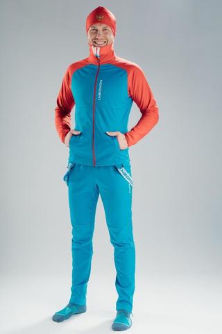 Nordski Premium лыжный костюм мужской синий-красный
