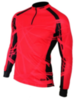 Olly Bright Sport Long футболка с длинным рукавом красная-черная - 1