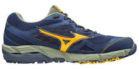 Беговые кроссовки мужские Mizuno Wave Kien 4 GoreTex темно-синие