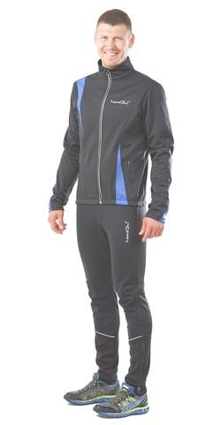 Nordski Active мужской разминочный костюм синий-черный