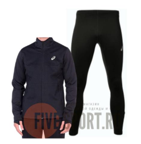 Asics Warm Silver костюм для бега мужской черный