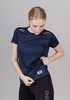 Nordski Run футболка для бега женская dress blue - 1