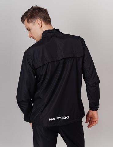 Nordski Motion куртка ветровка мужская Black/Light Blue