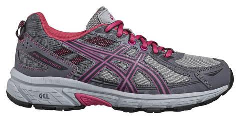 Asics Gel Venture 6 GS кроссовки внедорожники детские серые-розовые