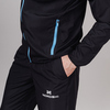 Nordski Motion куртка ветровка мужская Black/Light Blue - 4