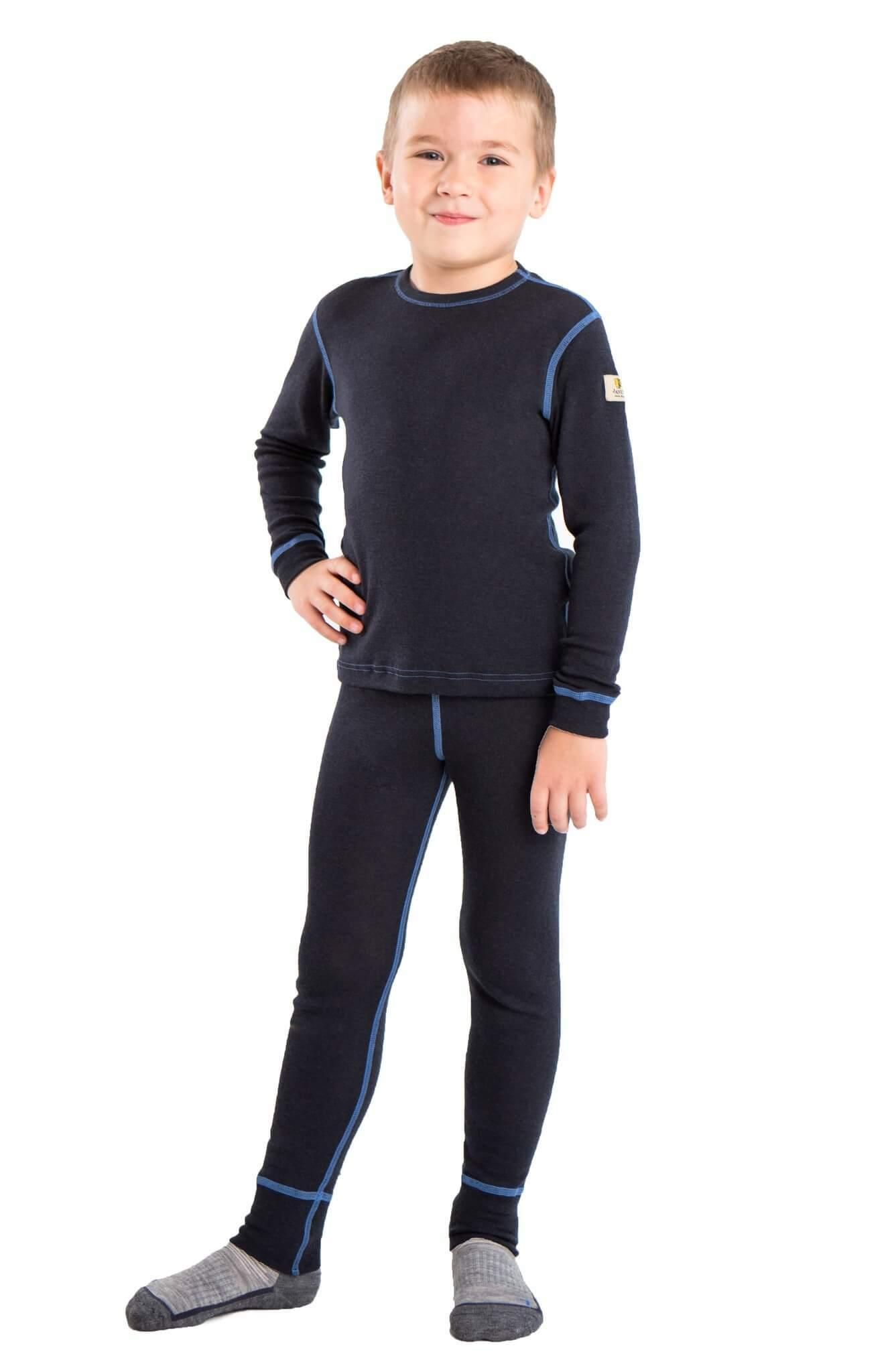 Janus детский комплект термобелья темно-серый