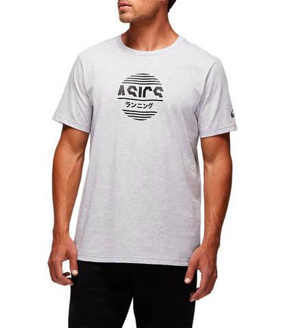 Asics Tokyo Graphic Tee футболка для бега мужская серая