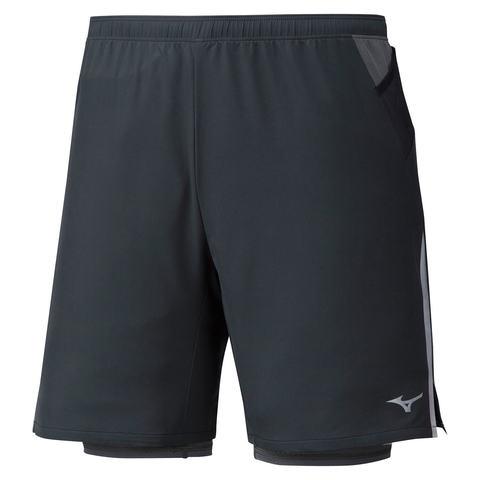 Mizuno Er 7.5 2 In 1 Short шорты для бега мужские черные