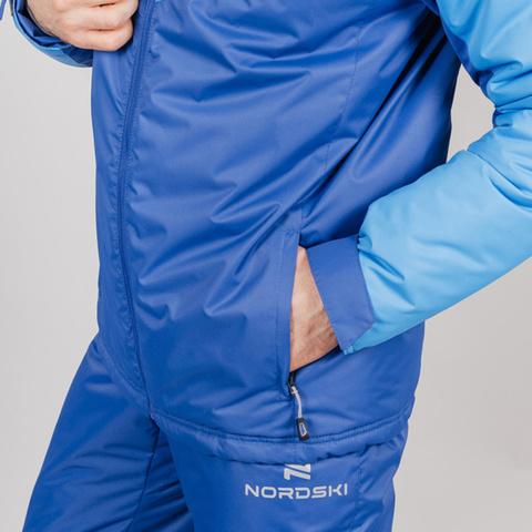 Nordski Jr Premium Sport утепленная лыжная куртка детская blue