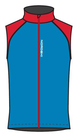 Nordski Premium лыжный жилет мужской синий-красный