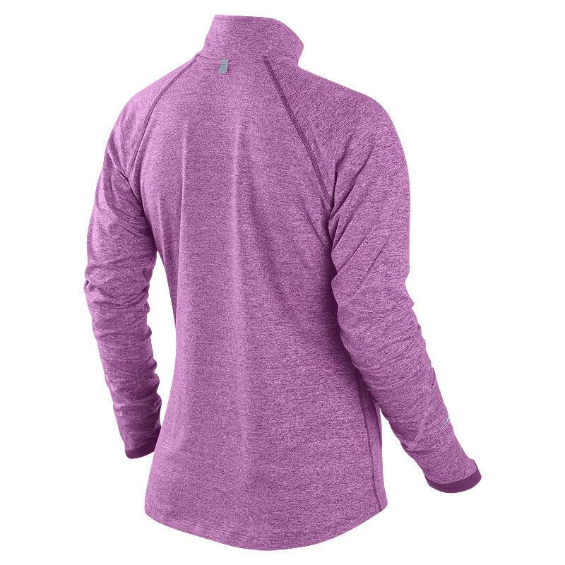 Футболка Nike Element H/Z (W) /Рубашка беговая сиреневая - 2