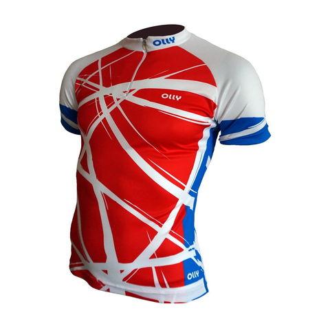 Olly Bright Sport Russia футболка беговая красная