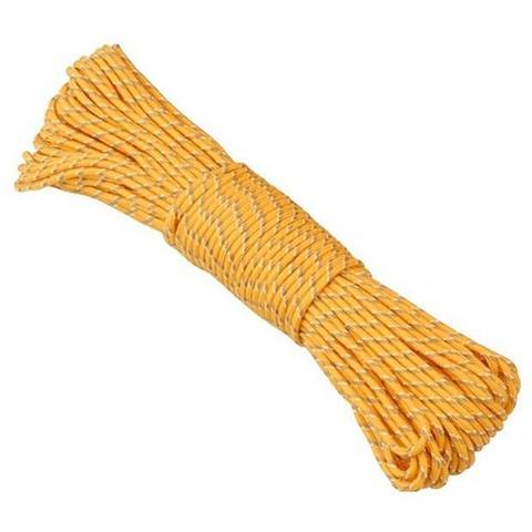 AceCamp Polypro Rope 4 мм x 10 м люминесцентная веревка желтая