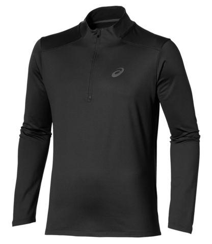 ASICS ESS WINTER 1/2 ZIP мужская беговая рубашка черная