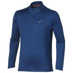 ASICS ESS WINTER 1/2 ZIP мужская беговая рубашка темно-синяя