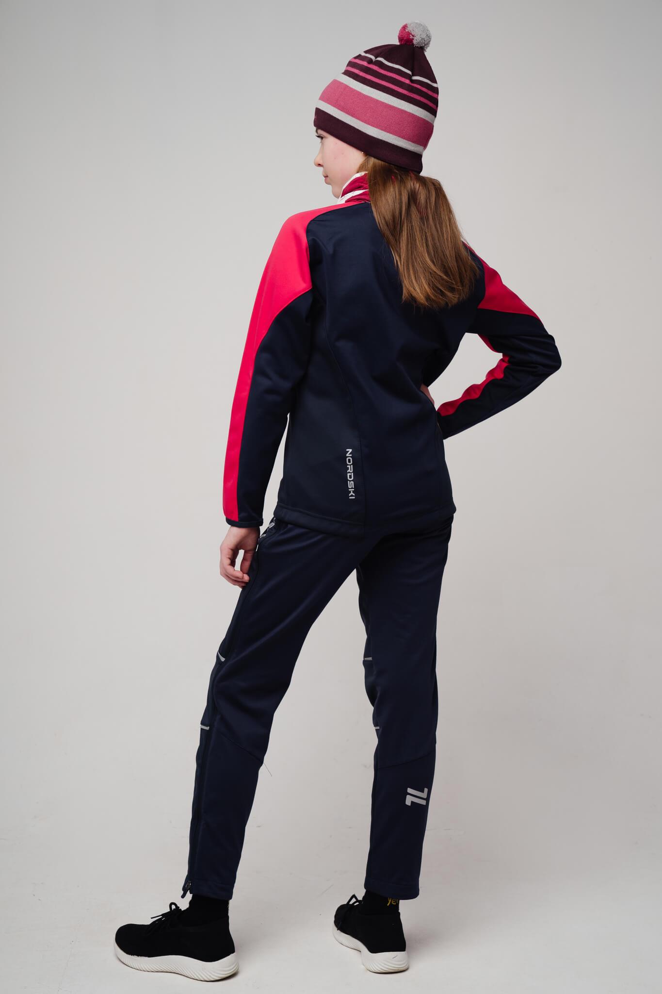 Nordski Jr Premium лыжный костюм детский pink-blueberry - 2